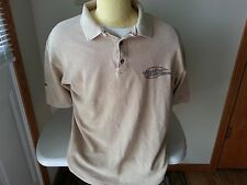 "Harley Davidson ""Hal's"" tan short sleeve polo - mens large"