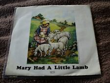 WINGS Mary Had A Little Lamb/Little Woman Love 45  w/PS NM