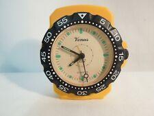 Vintage Venus Quartz Alarm Clock Nautical Wristwatch Design Japan Movement