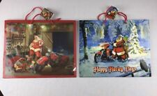 Set Of 2 Harley Davidson Christmas Gift Bags New With Gift Tags  2016 & 2017