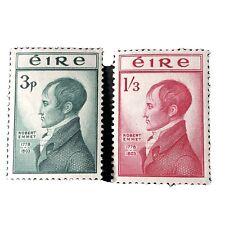 IRELAND, SCOTT # 149/150(2), COMPLETE SET ROBERT EMMET 1953 ISSUE MVLH
