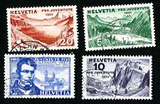 Switzerland Stamps # B57-60 Used VF Scott Value $31.75