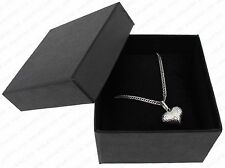 JEWELLERY BLACK GIFT BOX FOR WATCH NECKLACE BRACELET BANGLE PENDANT NEW