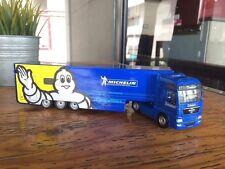 Majorette Michelin Renault Magnum Trailer Truck Model Blue MAN TGX tractor 1:64