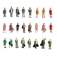 50Pcs 1:87 Figure colorate dipinte a trenino colorate