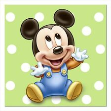 MICKEY MOUSE 1st BIRTHDAY SMALL NAPKINS (16) ~ First Party Supplies Dessert Boy