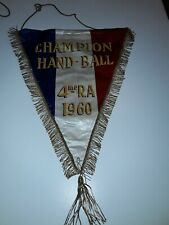 Fanion  Sportif Armée de l'air REGION AÉRIENNE/ HAND BALL 1960 4eme RA