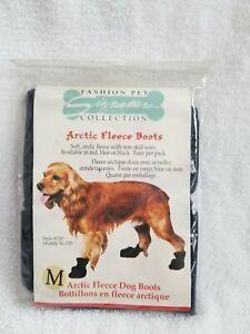 NEW Artic Fleece Dog Boots Fashion Pet Size Medium FREE & Fast Shipping