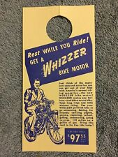 VINTAGE WHIZZER DOUBLE SIDE RIDE ONE YOU WILL BUY / REST WHILE YOU RIDE HANG TAG