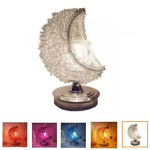 3D Moon Electric Aroma Warmer Candle Wax Melt Burner Glass Lamp Night Light