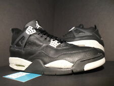 1999 Nike Air Jordan IV 4 Retro + LS OREO BLACK COOL GREY CEMENT 136030-001 12