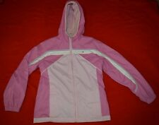 Free Country Girl Pink Hooded Reversible Winter Fleece Jacket Size L 14