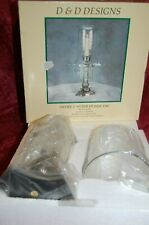 CANDLE HOLDER: VICTORIAN Hurricane Lantern Taper Stand New in Box