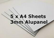 3mm White Aluminium Composite sheets - 5 A4 sheets - Alupanel - Dibond