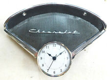 1955 1956 chevy belair 210 150  speaker bezel  chevrolet emblem & new clock #1