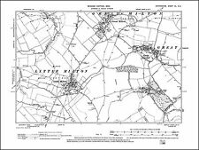 Great & Little Milton, Great & Little Haseley, old map Oxfordshire 1900: 40SE