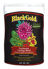 Black Gold Earthworm Castings Soil Conditioner Organic 8 qt. Bagged