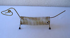 Vintage LETTER HOLDER 45 rpm Record Rack WEINER DOG Coil  Metal Wire Dachshund