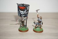 Warhammer LOTR - Lord of the Rings Mordor Command Captain & Standard - Metal