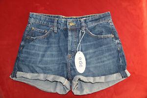 Esprit edc Jeans Shorts blau Gr. S ~ 36 / Inch: 27 - NEU ETIKETT Hot Pants Damen