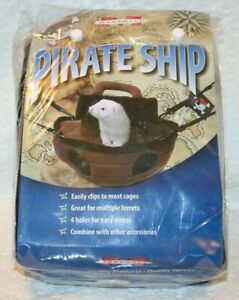 """Marshall PIRATE SHIP Hanging Ferret Hammock, 14"""" x 12"""" x 10"""", New in Package"""