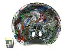 "Beautiful  ""Tutti Frutti"" Murano  ""rest of the day"" glass bowl Schale + label"