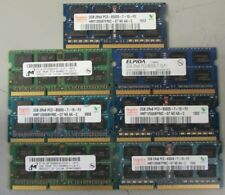Lot of 7 Assorted 2GB 2Rx8 PC3 - 8500s laptop memory