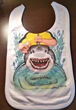"ADD A KID Cartoon Baby Bib ""Shark Rider"""