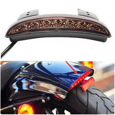 Motorcycle Brake Tail Light License Plate Smoke FOR Bobber Cafe Racer Clubman US