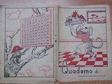 VECCHIO QUADERNO SCOLASTICO SCIMMIA Tavola Pitagorica VATOLLA 1950 scuola di da
