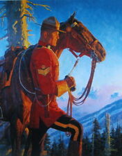 Canadian Mountie RCMP  Standing with Horse A Friberg