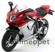 MAISTO 11093 MV APRILIA AGUSTA F3 BIKE 1/12 RED SILVER