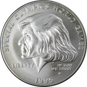 Special Olympics Games Commemorative 1995 W 90% Silver Dollar BU $1 Coin