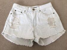Beginning Boutique (Refuge Denim) distressed shorts ice blue SIZE 7