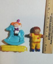 CABBAGE PATCH KIDS FIGURES 1 Boy Figurine & 1 Rocking Horse Girl Figure Lot CPK