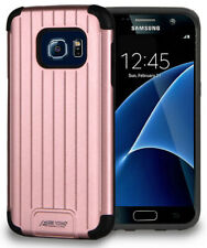 ROSE GOLD PINK MATTE METALLIC SLIM DUO-SHIELD CASE COVER FOR SAMSUNG GALAXY S7