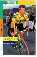 CYCLISME  carte cycliste DAVID ETXEBARRIA équipe ONCE 2000