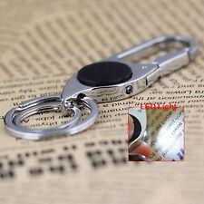 Led Light Pants Buckle Keychain Waist Belt Clip 2 Loops Keyring Key Chain Ring