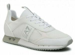 Emporio Armani Ea7 X8X027 XK050 Sneakers Men's Shoes Laces Leather White