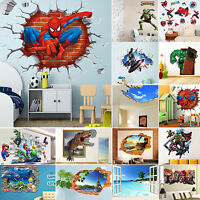 3D Wall Stickers Removable Kids Nursery New Room Home Decor Mural Art Decal New