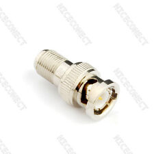 5x RF adapter F female Jack to BNC male plug straight Coaxial connector adapter