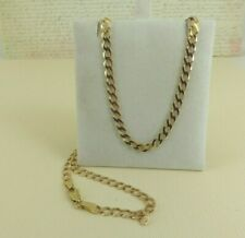 9ct 9carat Yellow Gold Solid Curb Link Chain, 18.5 Inch, 7.3 grams