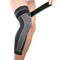 Knee Pads Stripe Compression Leg Warmer Non-slip Bandage Unisex Fitness Sleeve