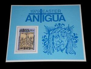 ANTIGUA, BARBUDA #460, 1979, EASTER, SOUVENIR SHEET, MNH, NICE LQQK