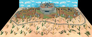 """WWII D-Day Playset #2 - """"Fighting Through"""" - 54mm Plastic Toy Soldiers"""