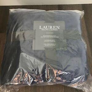 """NEW Lauren by Ralph Lauren Micromink Plush King Blanket 108"""" x 90"""""""