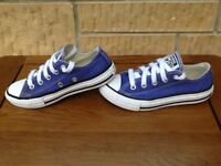 Converse All Star Ox Trainers UK Kids Size 11 EU 28.5 Lilac Canvas Unisex