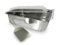 New listing Large Roasting Pan Chicken Turkey Roaster Rectangular With Rack Lid Oven Lasagna