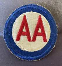 Vintage WW2 US Army Anti-Aircraft Command AA Shoulder Military Cloth Patch