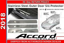 Genuine OEM Honda 18 Accord 4DR Sedan Stainless Steel Outer Door Sill Protector